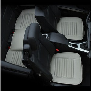 Image 2 - Car supplies Car seat covers, spring summer premium car seat cushion, bamboo charcoal leather monolithic seat cushion