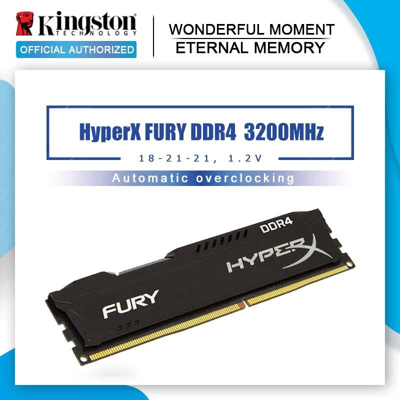 Original Kingston HyperX FURY DDR4 3200MHz 8GB 16GB Desktop RAM Memory CL18 DIMM 288 pin Desktop