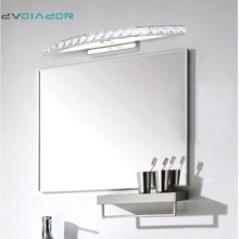DVOLADOR Crystal LED Mirror Front Light 10W 15W AC110-220V Bathroom Waterproof Anti-fog LED Stainless Steel Wall Light(China)