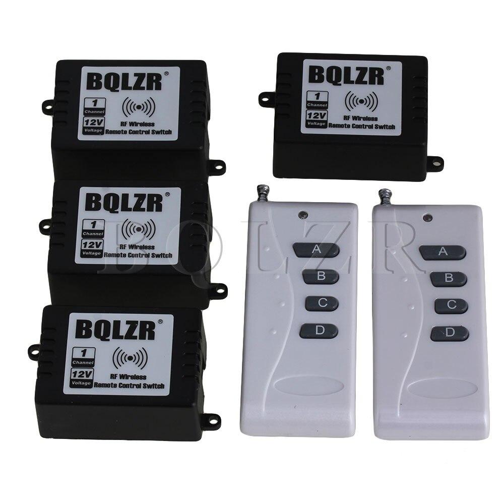 ФОТО BQLZR 1CH 433MHz Inching/Self-lock 2 ABCD-Key Remote Control 4 Receivers  72