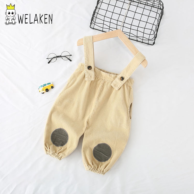 weLaken Baby Kids Jumpsuit 2019 Top Quality Fashion Dot Clothes Babes Overalls Outwear Solid Color For Toddler Kid 12M-5T(China)