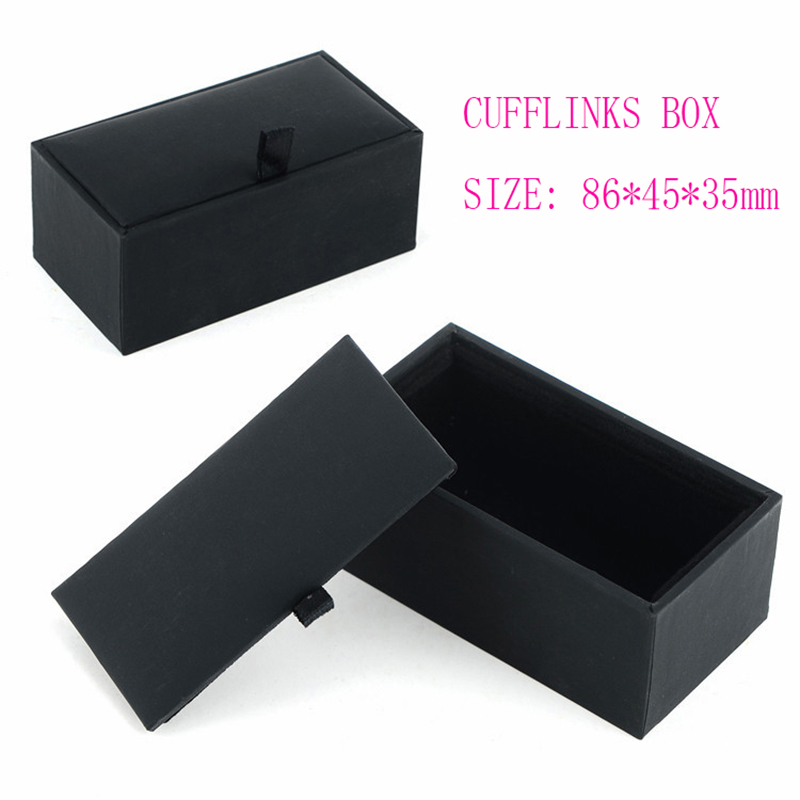 Hot Sale Cufflinks Box 3styles Gift Box Gemelos New Storage Boxes Jewelry Cuff Links Case Craft Badge Box Jewelry Case