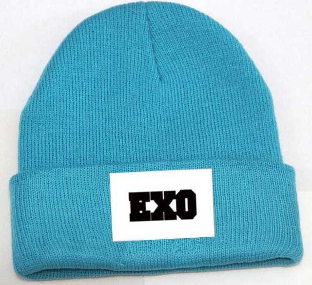 Exo winter fluorescence color gorro kpop exo knitting gorros de lana 6  colors men's women's winter skully hat d4395da4e53e