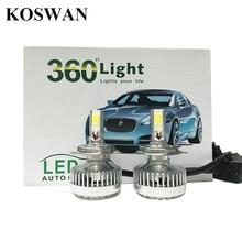 2Pcs H4 Xenon White Hi/Lo 4 COB Car LED Headlight Kit Bulbs Lamps 7200LM 72W LED Headlight Bulb Replacement HID Xenon Bulb H4
