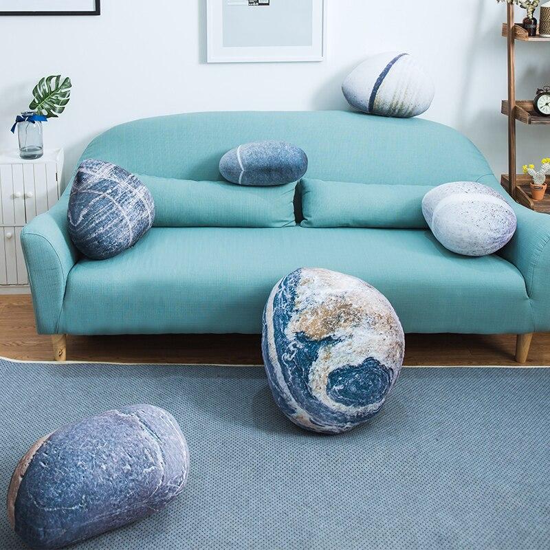 Оригинальный реалистичный булыжник Подушка диванная подушка ленивый диван Подушка Домашние детские плюшевые игрушки креативная имитация камня подушка