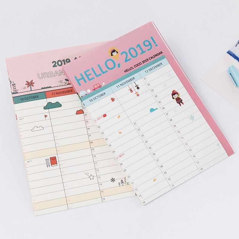 photo about Large Daily Planner named 2019 365times Paper Wall Calendar Business College Day by day Planner Notes Pretty Superior Investigation Fresh Calendar year Application Plan 43*58cm