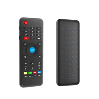2.4G Wireless Air Mouse IR Learning Back Touchpad Keyboard Micro USB Rechargeable TV Control Fly Mouse