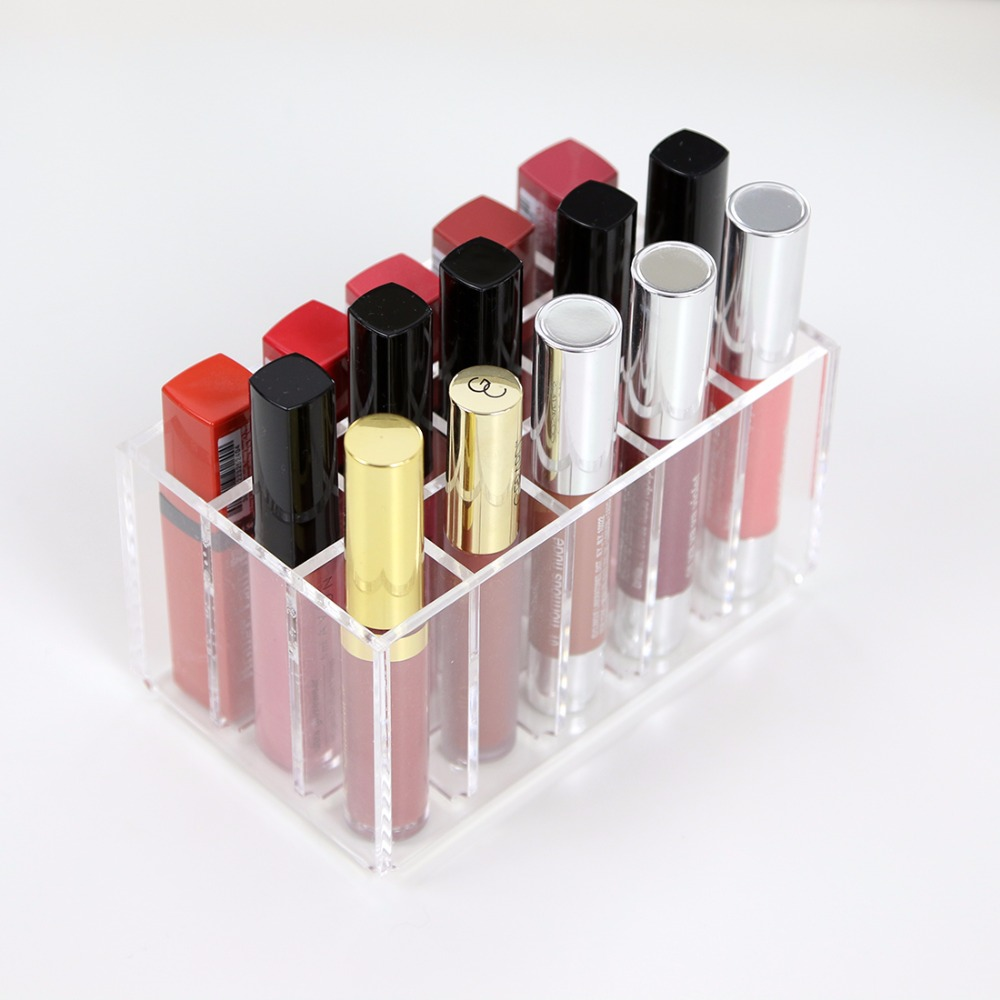 2018 Aila New 15 Lipsticks Organizer High Quality Eyeliners Small Box Lip Gloss Organizer Box