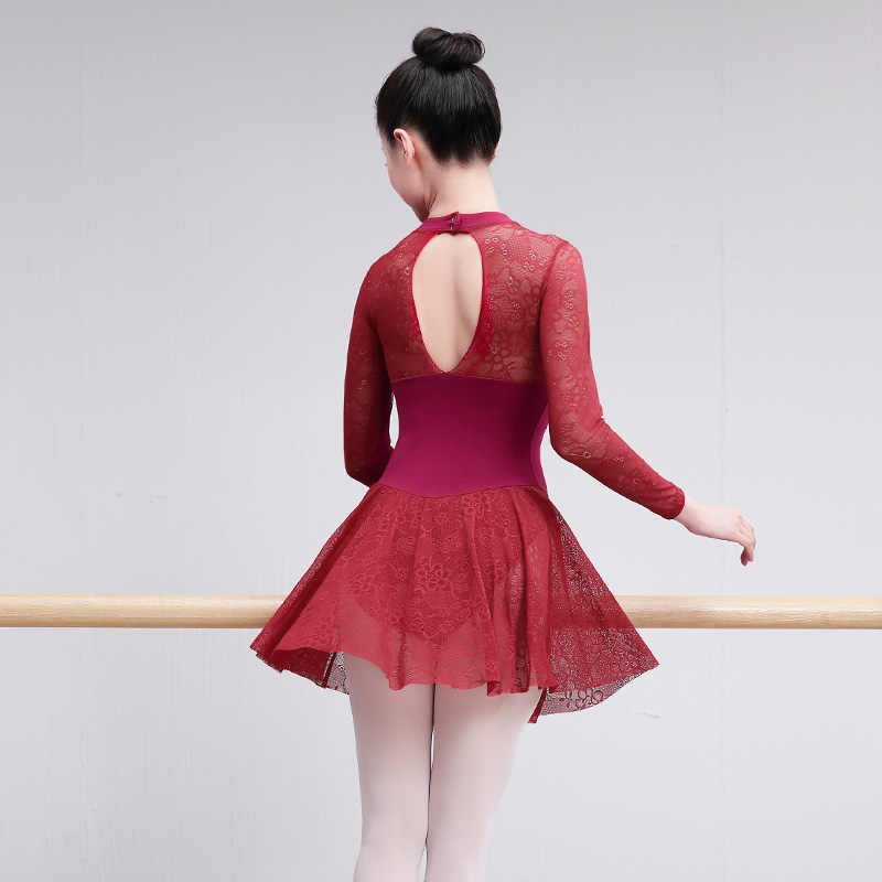 Профессиональный Взрослый балетный купальник, сексуальное кружевное балетное платье для женщин, учительские тренировочные костюмы для женщин, балетная танцевальная одежда, черный, красный