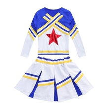 Girls Cheerleading  New Style Performance Long Sleeves Short-sleeved Ballet Dance Costumes Clothing