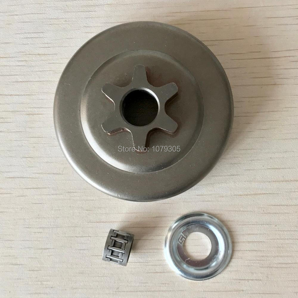 3/8 6T Clutch Drum Sprocket Washer Bearing For STIHL MS170 MS180 Chainsaw Parts