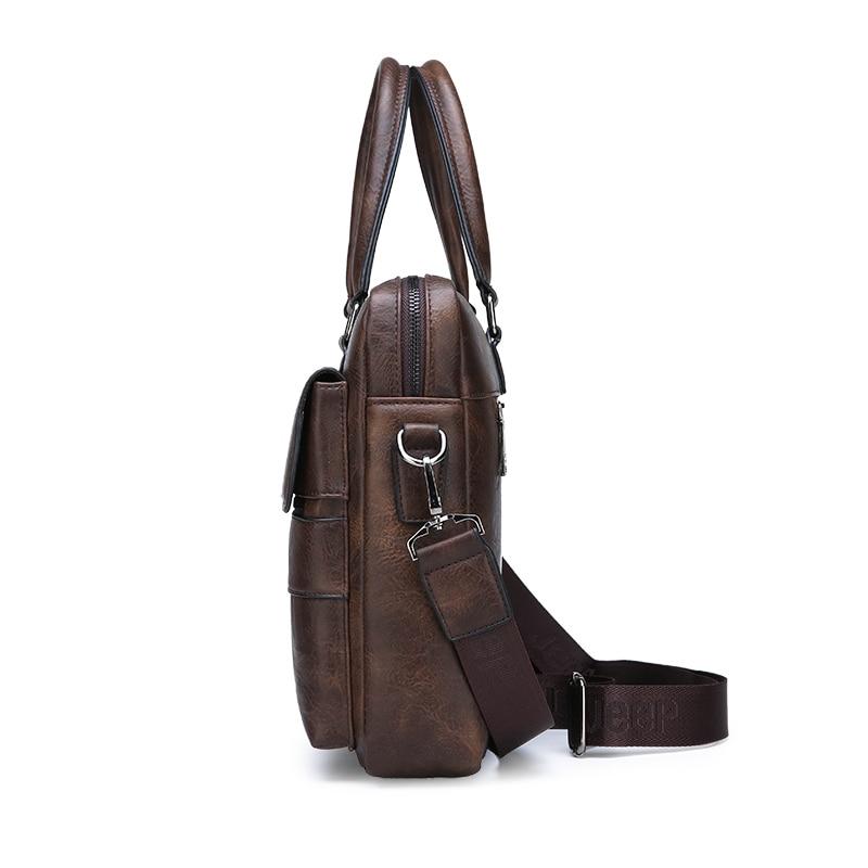 HTB1.7ABeRiE3KVjSZFMq6zQhVXa4 New Men Briefcase Bags Business Leather Bag Shoulder Messenger Bags Work Handbag 14 Inch Laptop Bag Bolso Hombre Bolsa Masculina