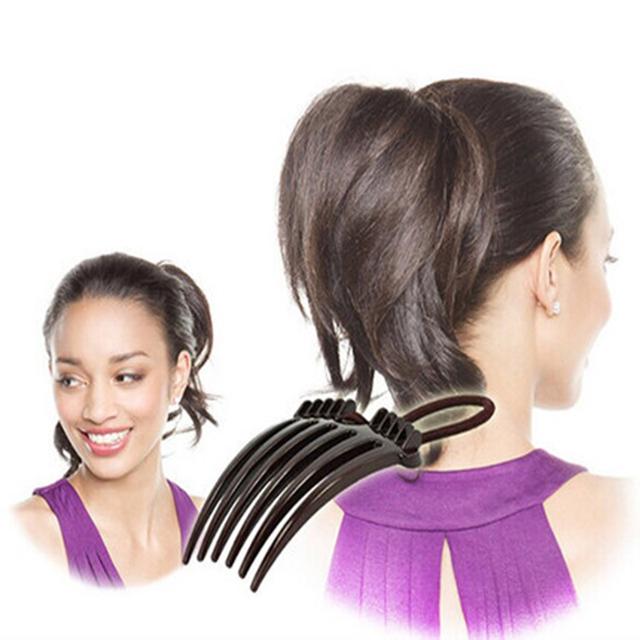 Hair Comb Ponytail Elastic Bands
