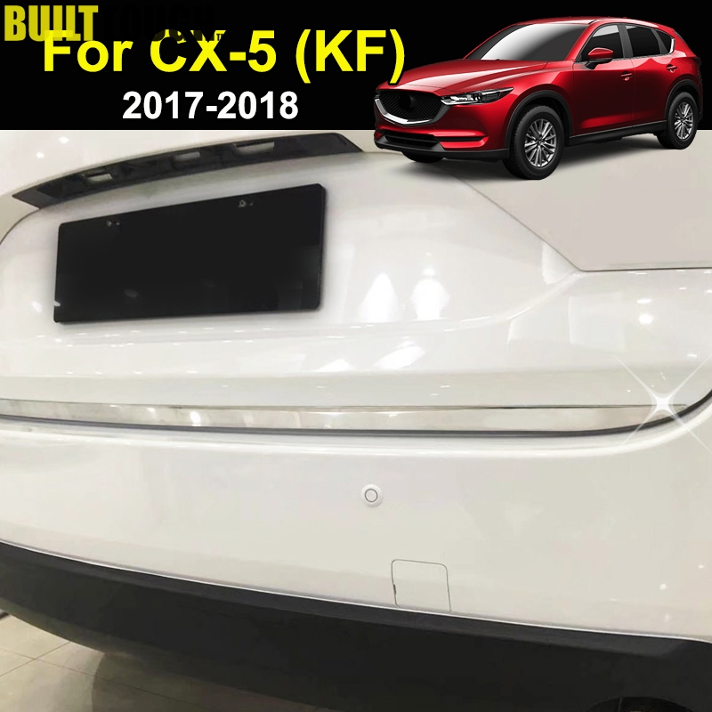 For Mazda Cx-5 Cx5 2nd Gen KF 2017-2019 Chrome Rear Trunk Lid Edge Cover Tailgate Boot Door Trim Strip Molding Garnish Stainless(China)