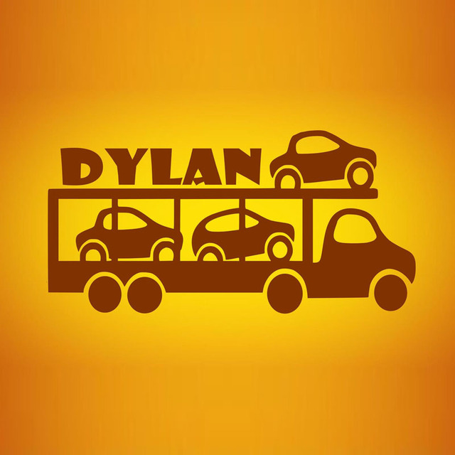 Cars Wall Decor Decals Customized Name Children Wallpaper Adhesive ...