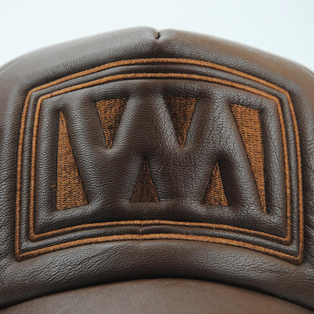 High quality faux leather baseball cap