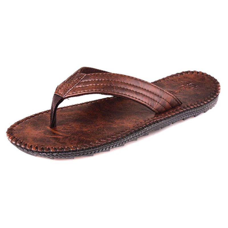 Fashion Trend Men's Flip-flops Summer 2019 New Men's Lightweight Breathable Non-slip Wear-resistant Thick-soled British wind San(China)