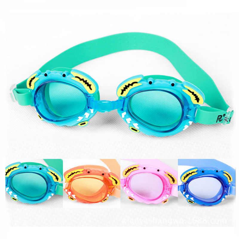 e302d29e7b9 Children Swimming goggles cartoon Professional anti fog kids swimming  glasses arena water glasses natacion Swim Eyewear