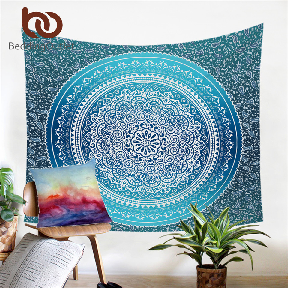 BeddingOutlet Concealed Tapestry Bohemia Nice Gift Colorful Microfiber Hanging Wall Tapestries 130cmx150cm 150cmx200cm