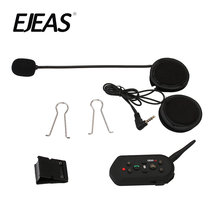 Mise à niveau casque de moto casque Bluetooth Interphone sans fil 6 coureurs casque Bluetooth 1200 M Intercomunicador BT Interphone E6(China)