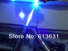 Buy 405nm 5000mw/5W att Waterproof Focusable Blue Purple Laser Pointer Burning Star Pointer Torch  Free Shipping