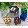 Вариант 16 Цвета 5 мм 216 шт. Neo Куб Магия Puzzle Metaballs Магнитный Шарик С Металлической Коробке, магнит Colorfull Волшебные Игрушки Подарок