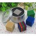 Opção 16 cores 5mm 216 pcs neo cubo mágico enigma metaballs bola magnética com caixa de metal, ímã Colorfull Dom Brinquedos Magia
