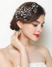 цена на 6pcs Handmade  Hair plug Bridal Hairpins With Crystals Pearl Wedding Hair Pins And Clips Rhinestone Hair Accessories SP-698