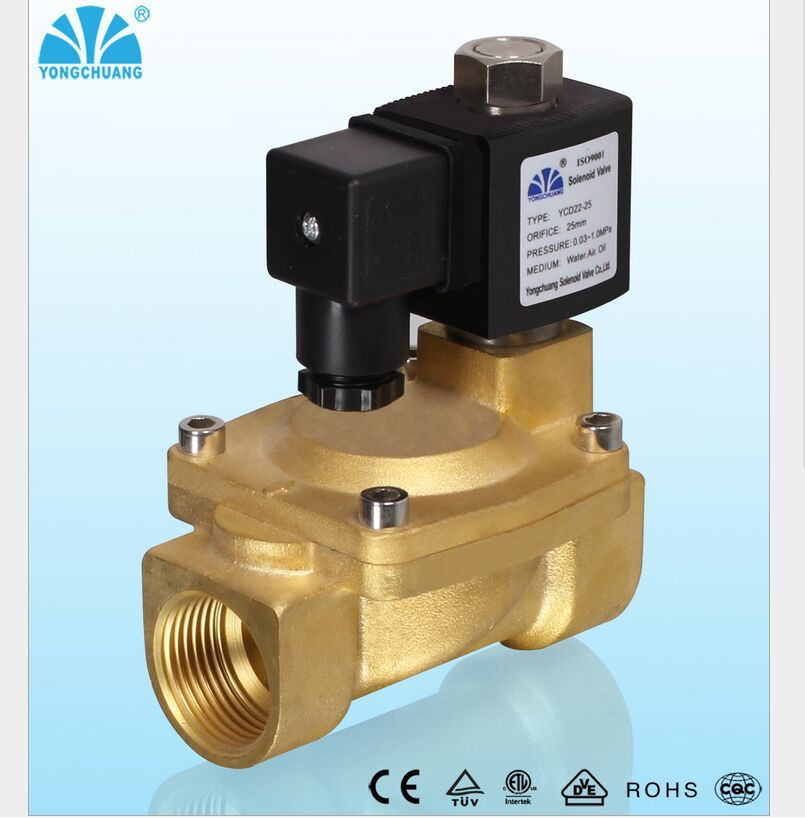 YCD12 Normally Open N/O 2Way Pilot Solenoid Valve AC 110V DN15 mm Solenoid Valve 24v normally open normally close electric thermal actuator for room temperature control three way valve dn15 dn25
