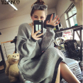 Women Sweater 2016 Winter New Fashion Long Pullovers Knitted Solid Sweaters High Quality Soft Big Size Pull Femme SZQ014