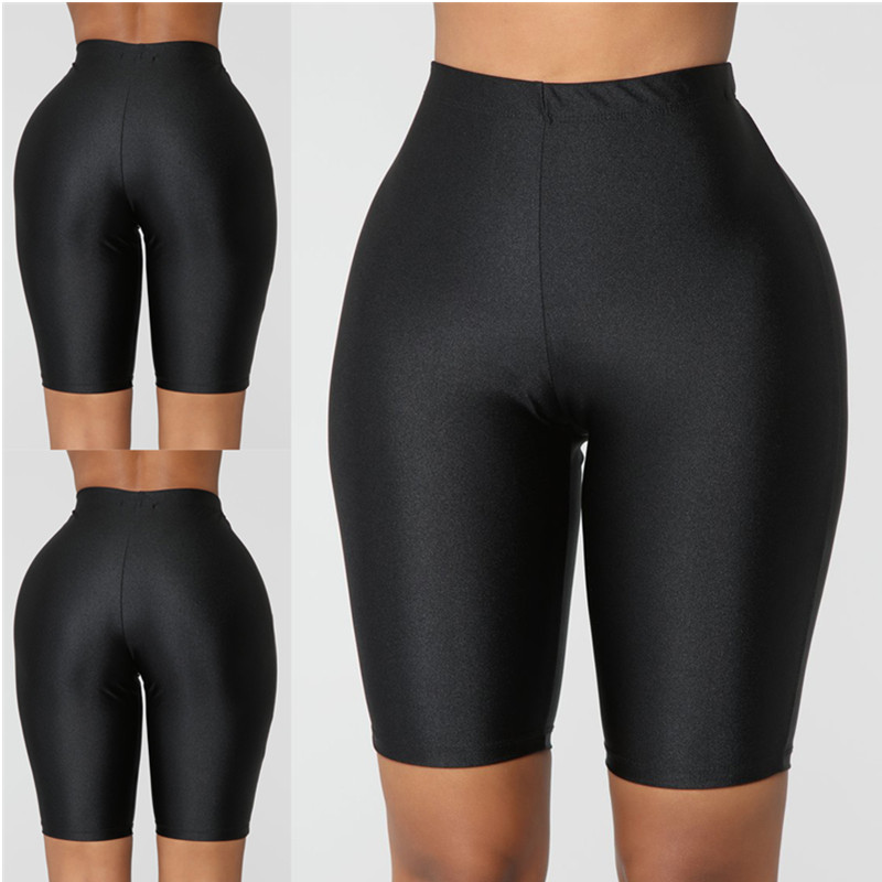 Women Sport Fitness Leggings Half High Waist Quick Dry Skinny Bike Short Leggings Elastic Casual Leggings Cycling Accessories W3