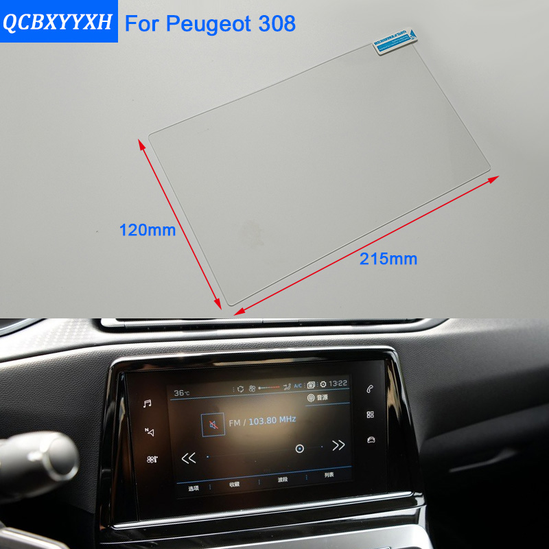 Car Styling 9.7 Inch GPS Navigation Screen Steel Glass Protective Film For <font><b>Peugeot</b></font> <font><b>308</b></font> Control of <font><b>LCD</b></font> Screen Car Sticker image