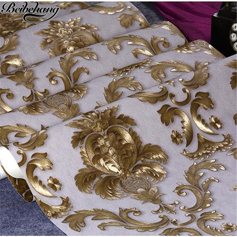beibehang Wallpapers European Pastoral Floral Nonwovens Wallpaper Bedroom Wedding Living Room TV Background Wall 3d wall paper beibehang warm european style pastoral network wallpaper living room bedroom tv 3d solid thick three dimensional wallpaper
