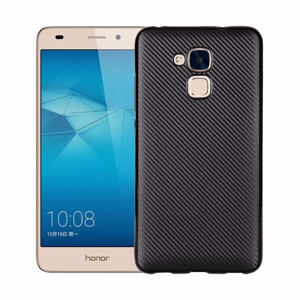 Huawei Honor 7 lite 5.2 дюйма случае углеродного Волокно мягкий свет и тонкий Обложка книги для Huawei Honor 7 lite силикон телефон сумка
