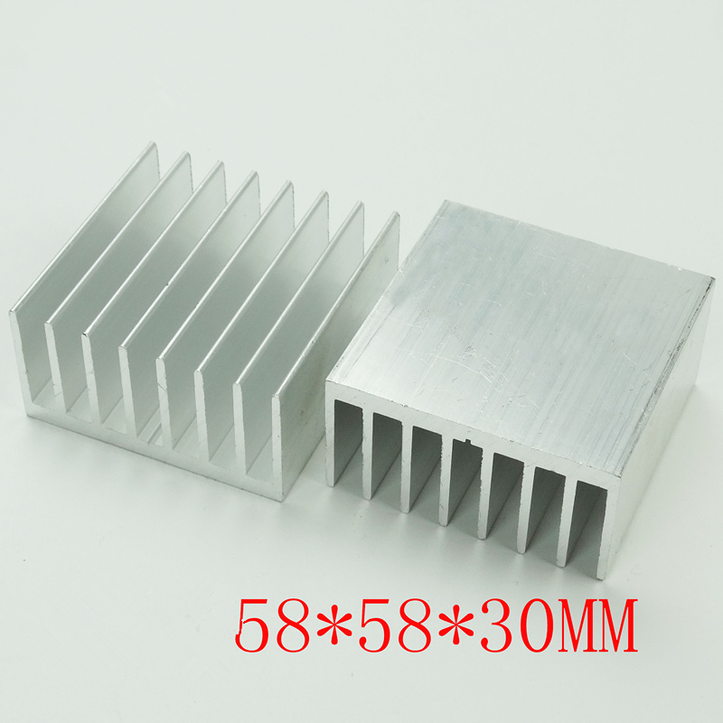 Fast Free Ship 5PCS IC Chip heat sink Electronic radiator Motherboard radiator piece 58*58*30MM heat sink can be customized