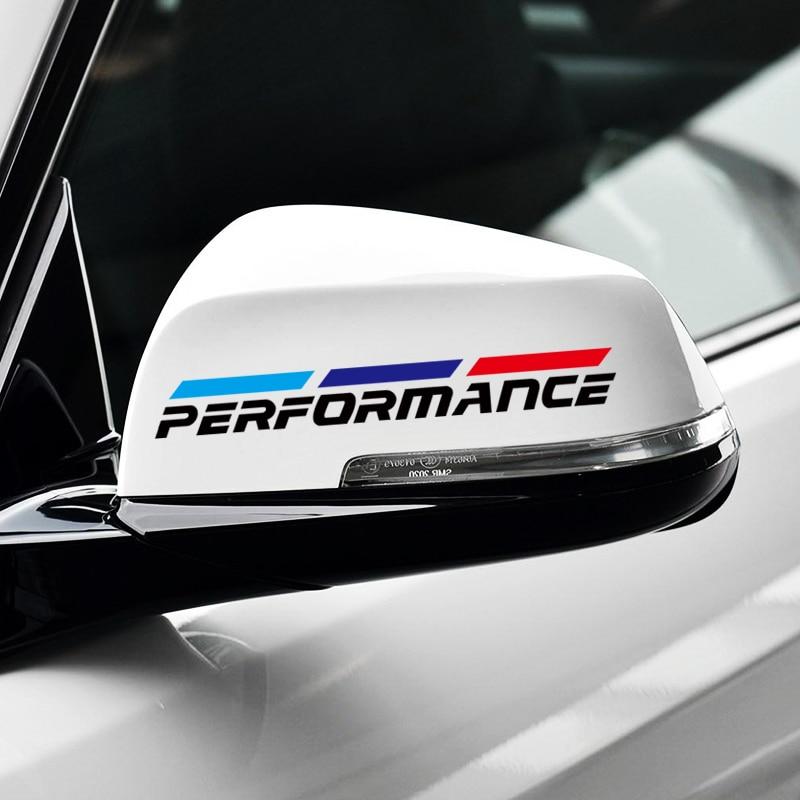 Performance Power Sport Car Raerview Mirror Sticker & Decal Accessories for BMW E46 E90 E39 E60 E36(China)