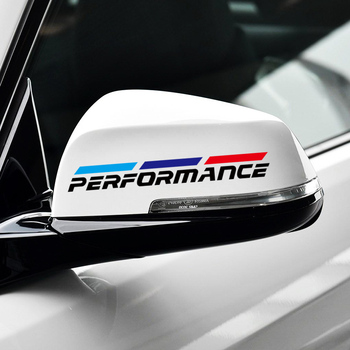 Performance Power Sport Car Raerview Mirror Sticker & Decal Accessories for BMW E46 E90 E39 E60 E36 image