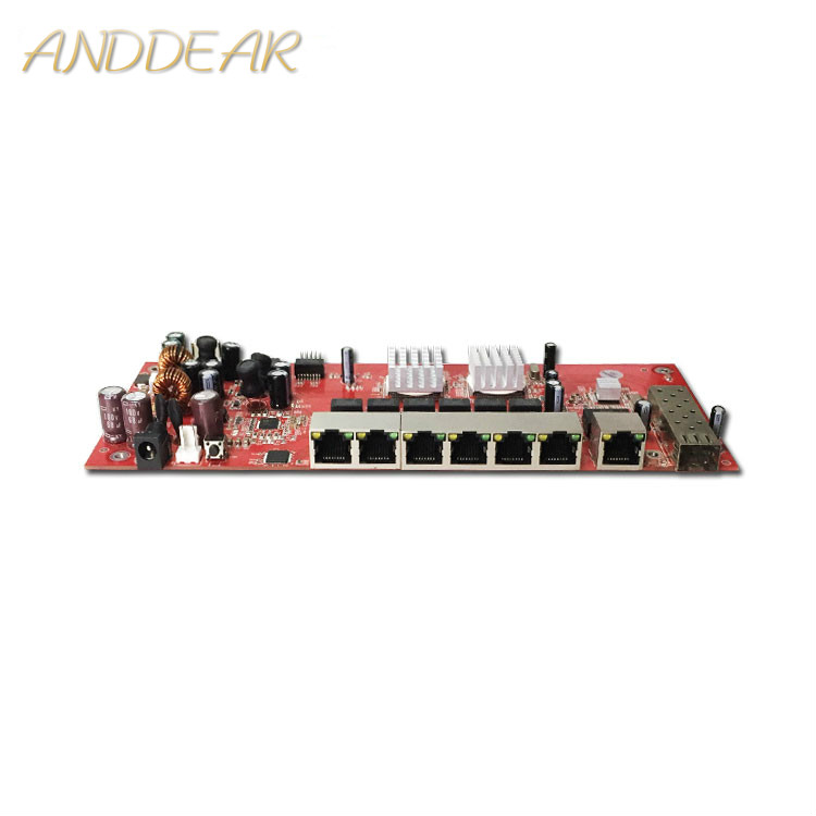 Industrial switch module 9 port gigabit SFP switch module support AF/AT wifi bridge outdoor cpe network switch 1000mbps