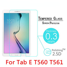 Tempered Glass For Samsung Galaxy Tab E T560 T561 9.6″ Screen Protect Film Clear Cover 9H 2.5D 0.3mm Explosion-Proof Toughened