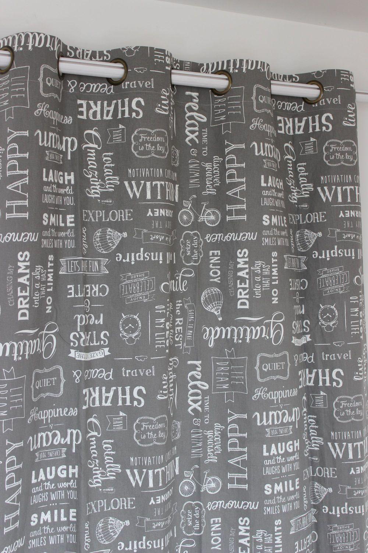 VEZO THUIS linnen grijs gordijnen panel slaapkamer woonkamer klaar ...