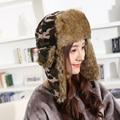 Women Winter Hats For Women Bomber Hat Camouflage Cap Warm Cap Russian Army Hat Snow Caps Earflap Woman Winter Hat