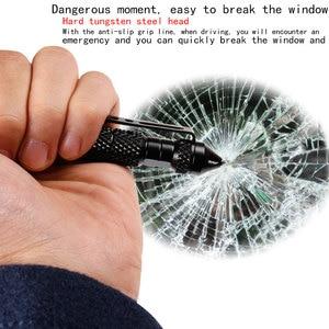Image 5 - High quality defensive tactical pen self defense pen multi function aviation aluminum alloy non slip portable camping ball pen