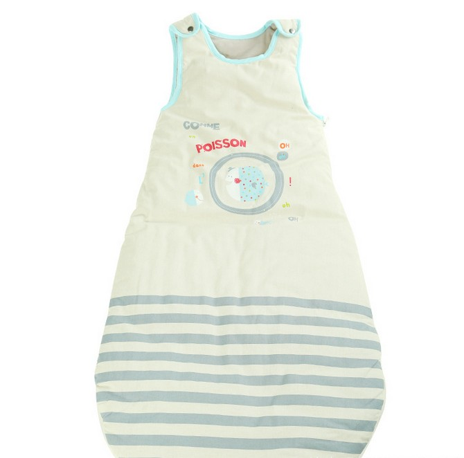 ФОТО Children 's Sleeping Bag Cotton Printing Vest - Style Autumn and Winter Embroidery Baby Warm Anti - Kick LD1124048