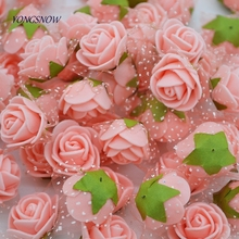 72pcs/lot Colorful Artificial Rose Flowers Head Handmade DIY Wedding Home Decoration Multi-use Lace PE Foam Party Supplies