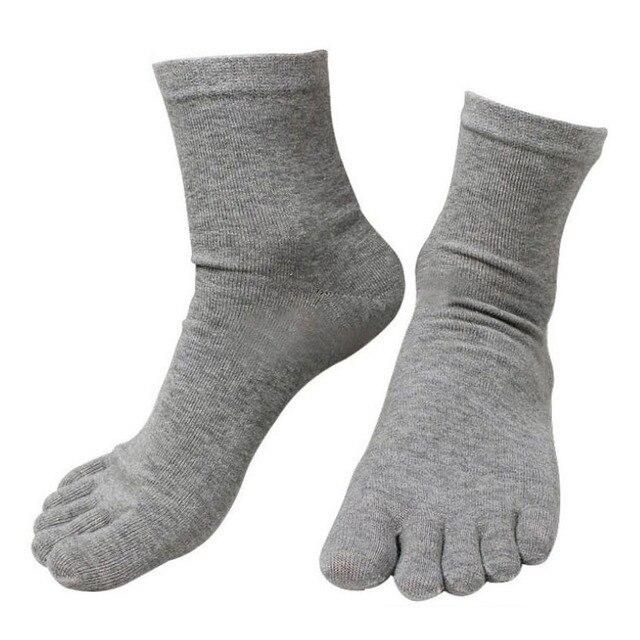 10 คู่ใหม่แฟชั่นฤดูใบไม้ผลิฤดูหนาว Harajuku ถุงเท้าผู้ชายผู้หญิงถุงเท้าห้านิ้วฝ้ายโพลีเอสเตอร์ Breath ถุงเท้า Toe 6 สี Meias