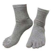 جوارب هاراجوكو رجالي موضة جديدة للربيع والشتاء مكونة من 10 أزواج جوارب خمسة أصابع من القطن والبوليستر جورب بأخمص القدمين 6 ألوان