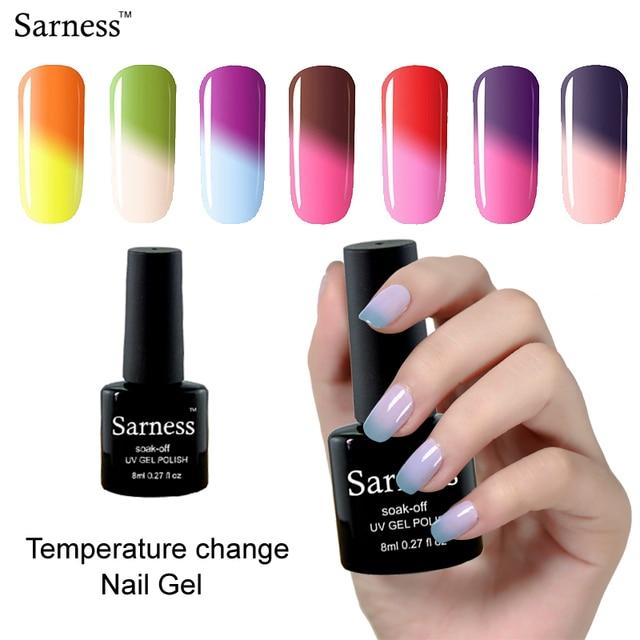 Sarness Cheap Gel 8ML Temperature Gel Nail Polish Thermal Color ...