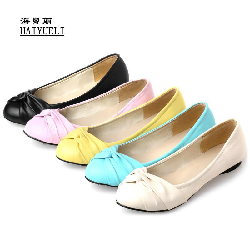 Women Spring Girl Ballet Flats Shoes Soft Comfortable Shoes Women's Shoes Loafers High Quality Plus Size 34-47
