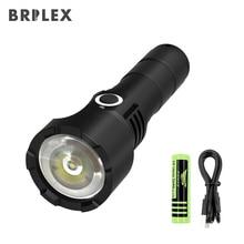 BRILEX светодиодный фонарик Перезаряжаемые фонари 1100 High Lumen Супер яркий горелки черный Цвет Водонепроницаемый ручной фонарик.