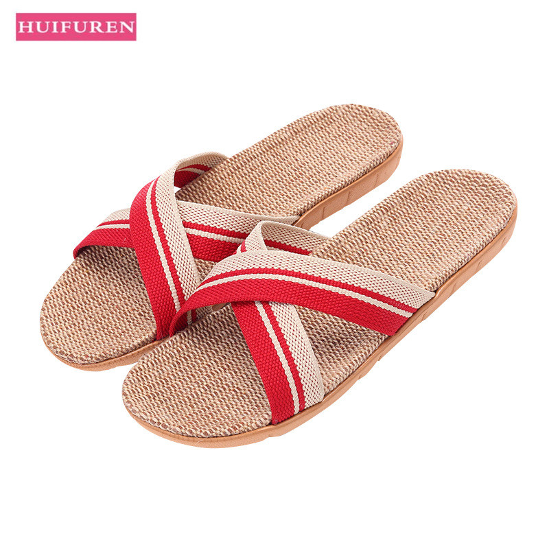 Summer Home Slipper 2019 Flat Shoes For Women Flax Sandal Flip Flops Cross Belt Ladies Indoor Floor Flats Unisex Slides SH021404Summer Home Slipper 2019 Flat Shoes For Women Flax Sandal Flip Flops Cross Belt Ladies Indoor Floor Flats Unisex Slides SH021404